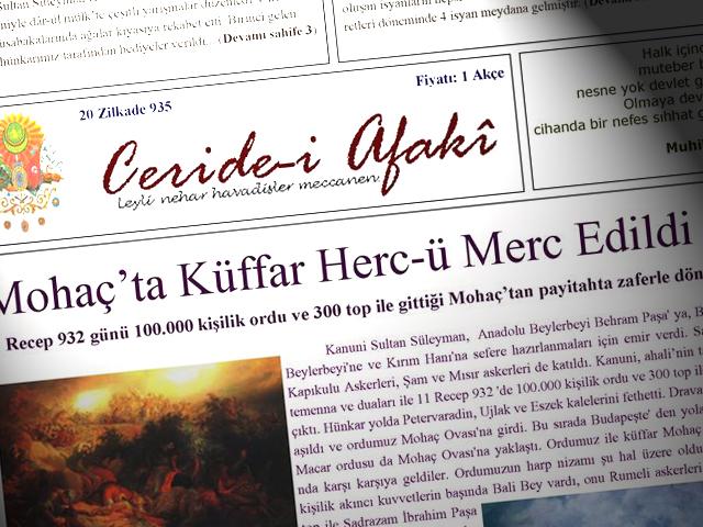 Mohaç'ta Küffar Herc-ü Merc Edildi - Ceride-i Afaki